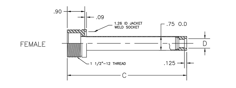 cryogenic bayonet model CB700 female