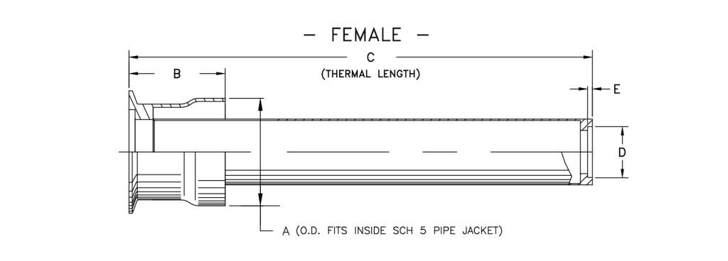 cryogenic bayonet model b3000 Female