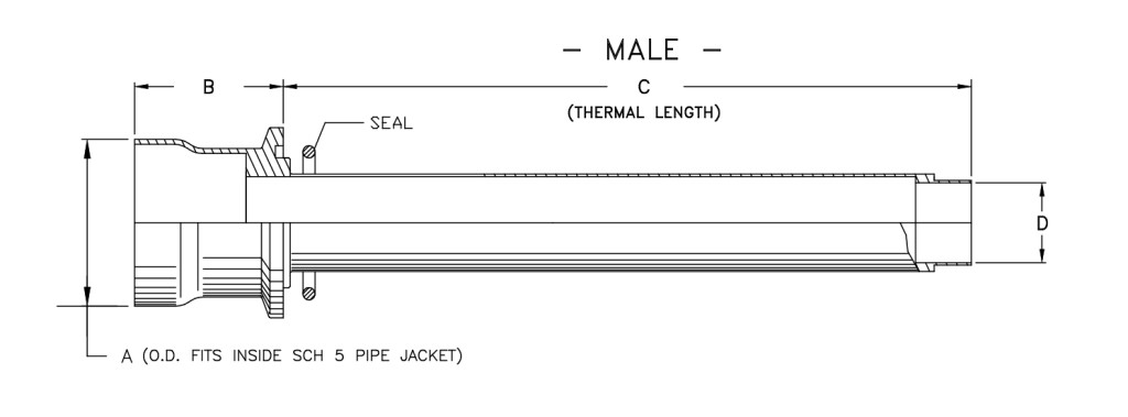Cryogenic Bayonet Model B3000 Male