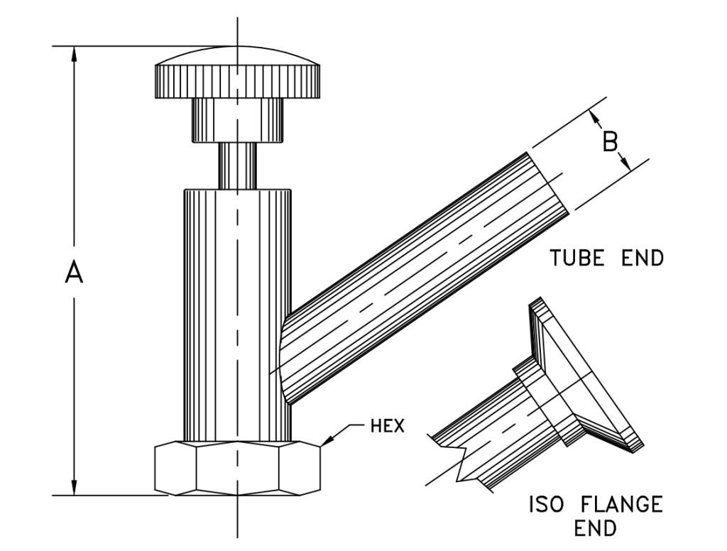 vacuum seal-off valve v1000 series
