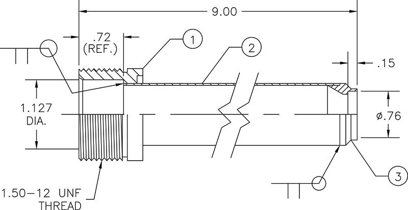 cryogenic bayonet drawing
