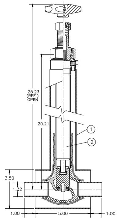 liquid helium valve