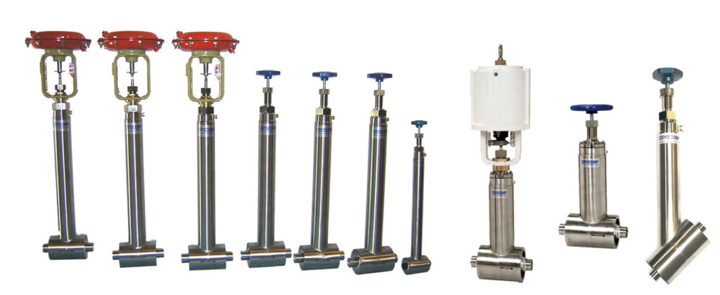 cryogenic valve manufacturers actuated and manual valves