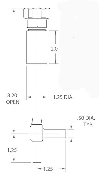 cryogenic valve with coldbox cuff