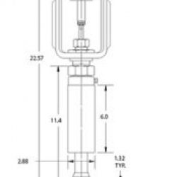 cryogenic valve for cold box