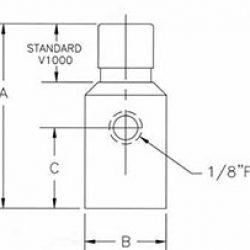 Vacuum Valve V1000 Series drawing